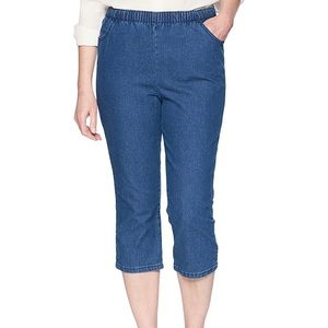 Chic Denim Elastic Waist Pull-On Cropped Jeans 20W